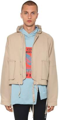 Ambush Waves Hooded Cotton Short Jacket