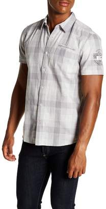 ProjekRaw Projek Raw Plaid Short Sleeve Modern Fit Shirt
