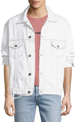 Hudson Men's Distressed Denim Trucker Jacket