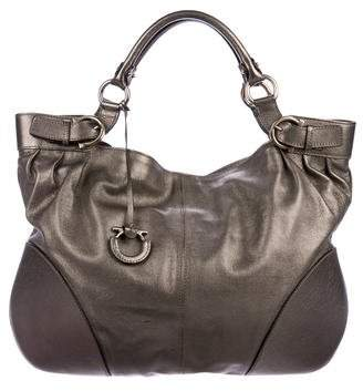 b99314986a Pre-Owned at TheRealReal · Salvatore Ferragamo Gancini Leather Shoulder Bag
