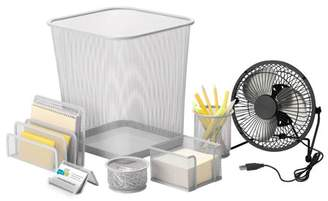 Honey-Can-Do Desk Essentials Set, Silver