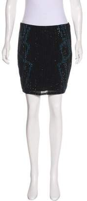 Haute Hippie Silk Sequin Skirt