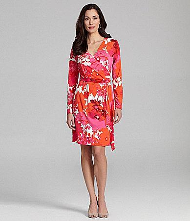 Jones New York Collection Faux-Wrap Dress