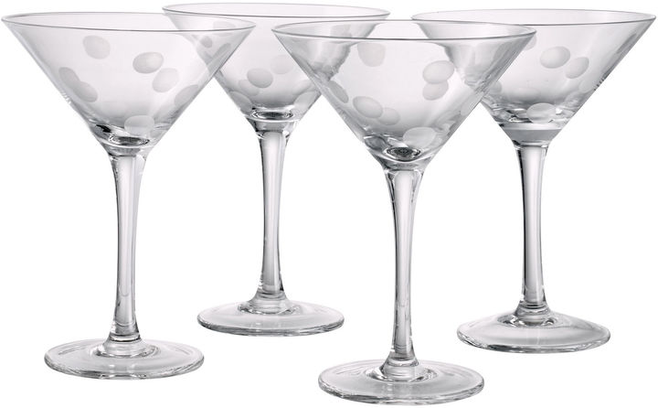 Artland ARTLAND Polka Dot Set of 4 Martini Glasses