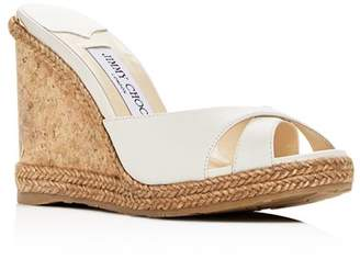 Jimmy Choo Women's Almer 105 Crisscross Wedge Slide Sandals