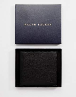 Polo Ralph Lauren Leather Billfold Wallet With Coin Pocket