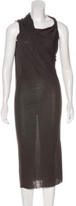 Rick Owens Midi Knit Dress Grey Midi Knit Dress
