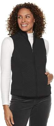 Croft & Barrow Petite Quilted Knit Vest