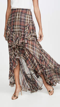 Camilla Maxi Skirt with Double Frill