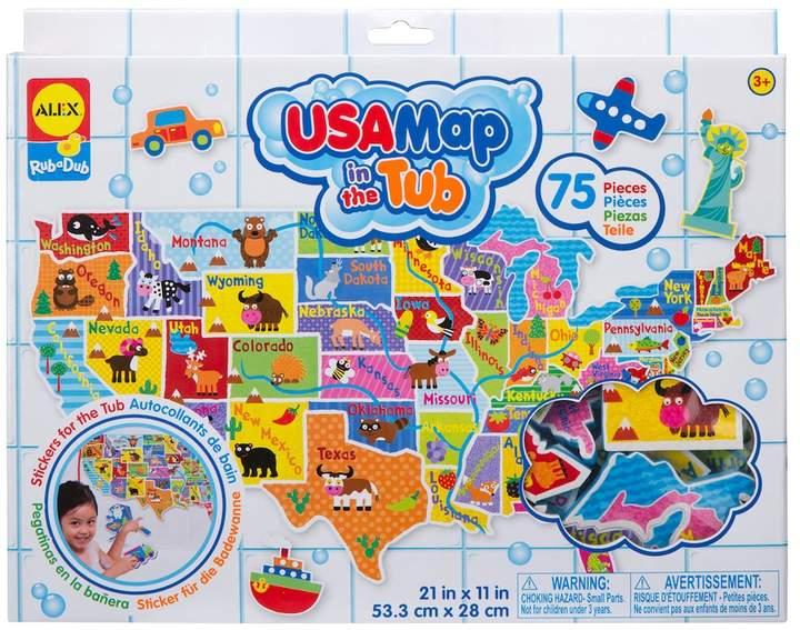 Alex ALEX Rub a Dub USA Map in the Tub