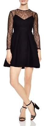 Sandro Jeanette Lace-Detail A-Line Dress