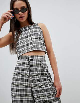 The Ragged Priest cropped top in check