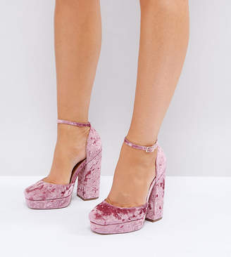 Asos DESIGN PING Wide Fit Platform Heels