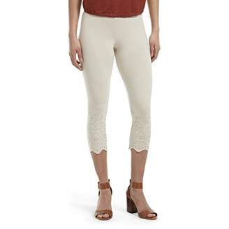 Hue Women's Fashion Cotton Capri Leggings, Assorted,L