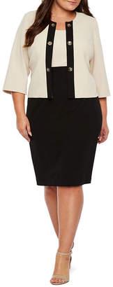 Studio 1 3/4 Sleeve Jacket Dress - Plus