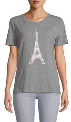 Sequined Eiffel Tower Tee