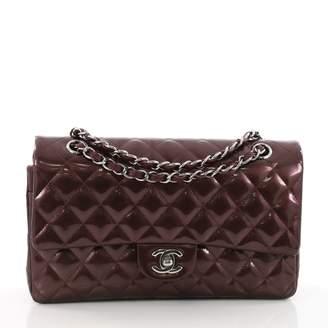 Chanel Timeless Purple Patent leather Handbag