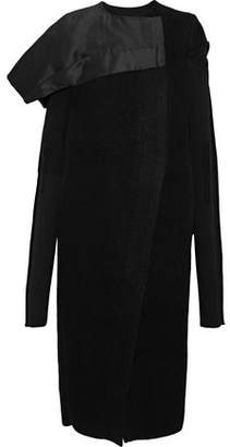 Rick Owens Gathered Wool And Silk-Faille Coat