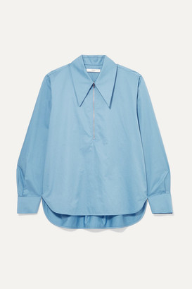 Tibi Cotton-poplin Shirt - Blue