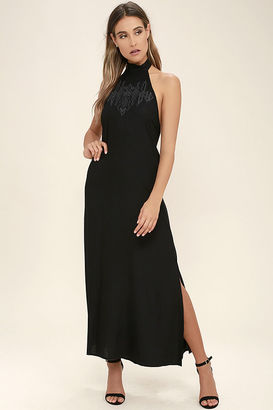 Billabong Wandering Moon Black Embroidered Maxi Dress $79.95 thestylecure.com