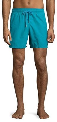Vilebrequin Moorea Panda Water-Reactive Swim Trunks, Prussian Blue $250 thestylecure.com
