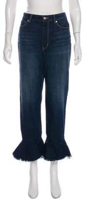 Rebecca Taylor High-Rise Wide-Leg Jeans