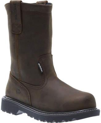 Wolverine Mens Floorhand Wellington Waterproof Slip Resistant Steel Toe Work Boots Pull-on