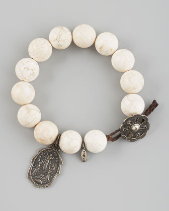 Love Heals White Magnetite Bracelet