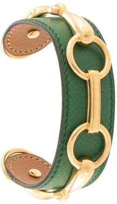 Hermes Pre-Owned leather buckle bangle