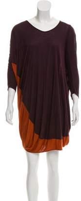 Zero Maria Cornejo Long Sleeve Mini Abstract Dress