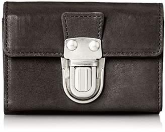 [パトリック ステファン] 財布 三つ折り財布 cartable 差し込み金具 羊革 174AWA10 S.BLACK ブラックxシルバーメタル
