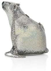 Judith Leiber Couture Polar Bear Crystal Minaudiere