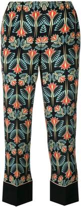 No.21 floral-print cropped trousers
