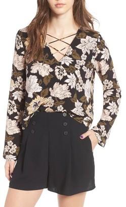 Women's Leith Lace Up Blouse $59 thestylecure.com