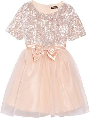 Zunie Sequin Fit & Flare Dress