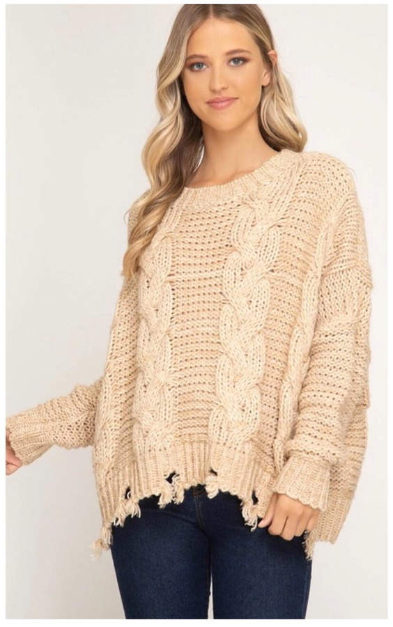 Polly & Esther Cable Knit Sweater