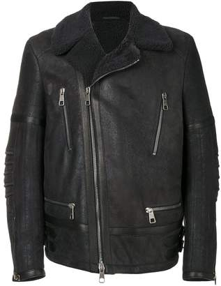 Neil Barrett leather aviator jacket