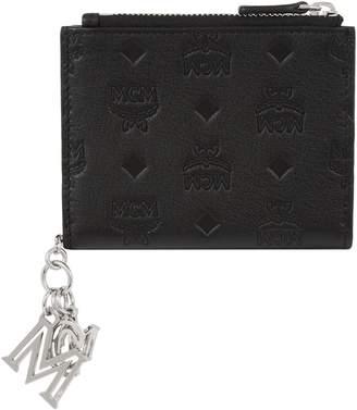 MCM Klara Visetos Two Fold Wallet with Charm