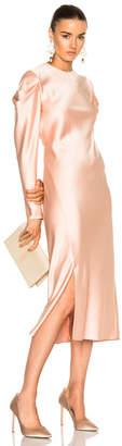 Tibi Drape Sleeve Dress