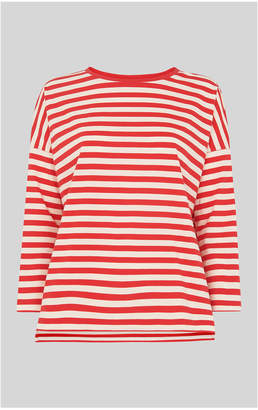 Whistles Wide Stripe Boxy Tshirt