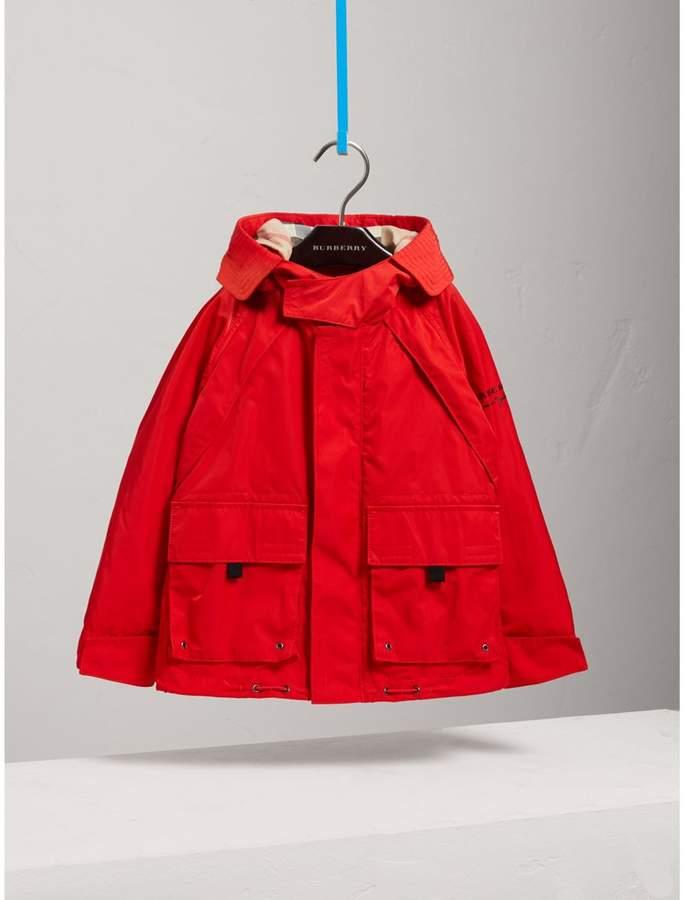 Hooded Shape-memory Taffeta Field Jacket