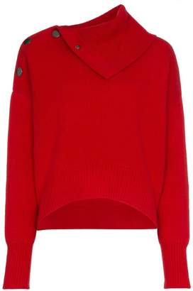 Le Kasha etretate button detail cashmere roll-neck jumper