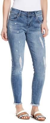Seven7 Embellished Distressed Skinny Jeans