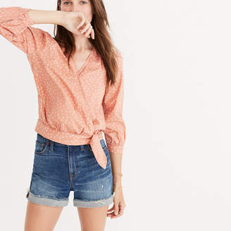 Wrap Shirt in Star Scatter $75 thestylecure.com