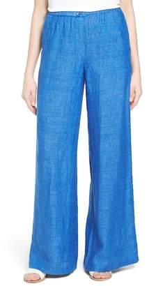 NIC+ZOE Drifty Wide Leg Linen Trouser $148 thestylecure.com