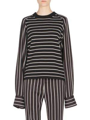 Haider Ackermann Striped Wool& Cashmere Pullover