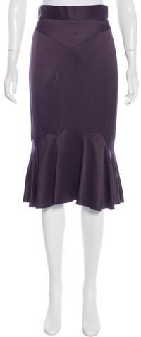 Marc JacobsMarc Jacobs Knee-Length Silk Skirt