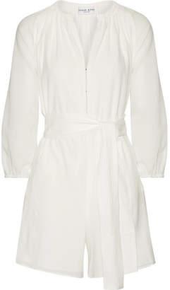 Apiece Apart Las Islas Cotton-gauze Playsuit - White