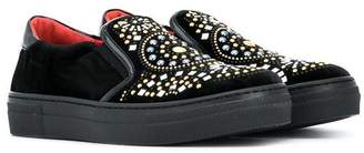 Cesare Paciotti Kids embellished slip-on sneakers
