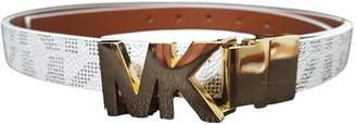 Michael Kors Skinny Signature Leather Belt Reversible
